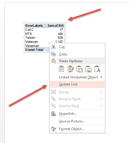 how to cut paste data on table powerpoint