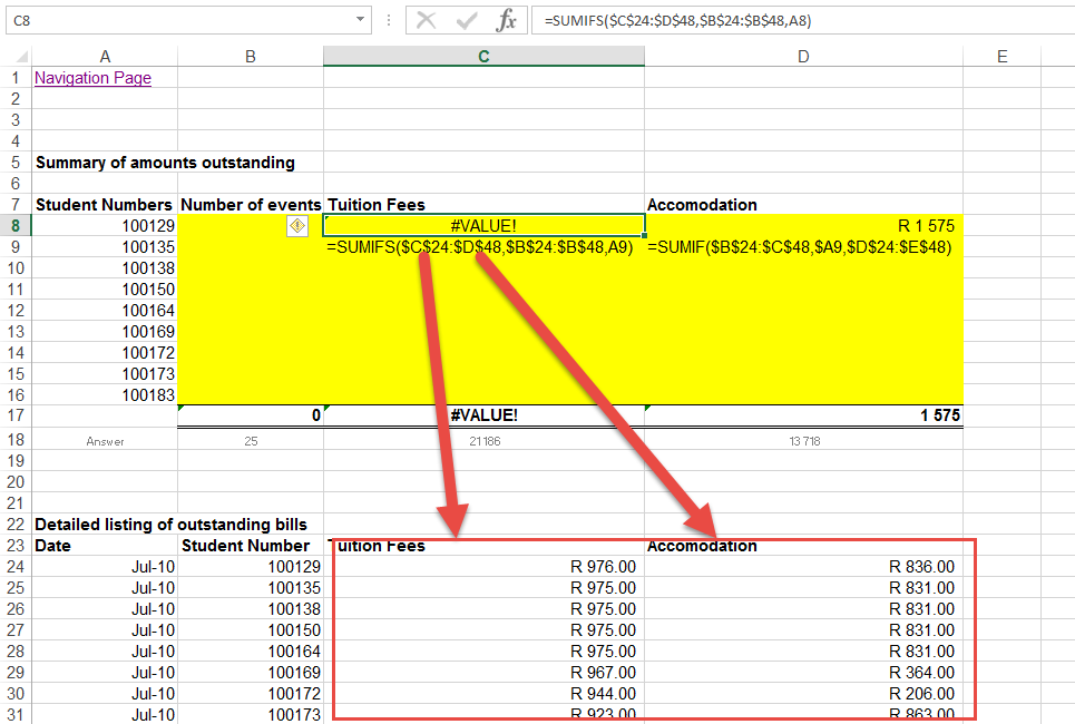 ... Between Row And Columns Excel. on different cell sizes in excel