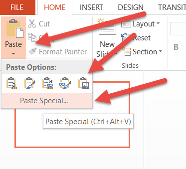 excel chart into powerpoint presentation insert excel