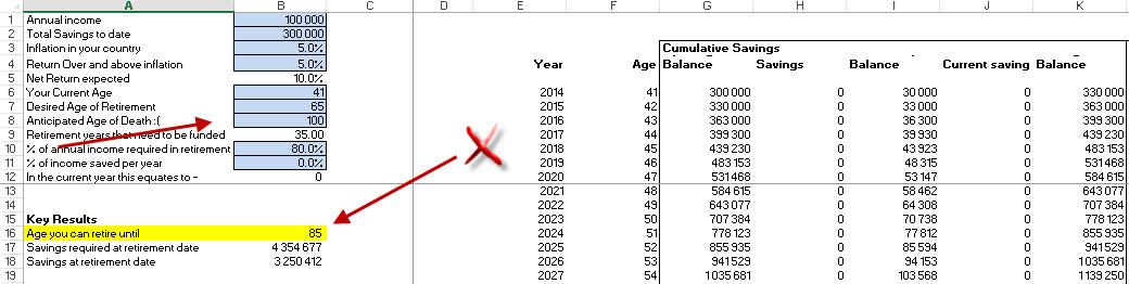 retirement planner excel