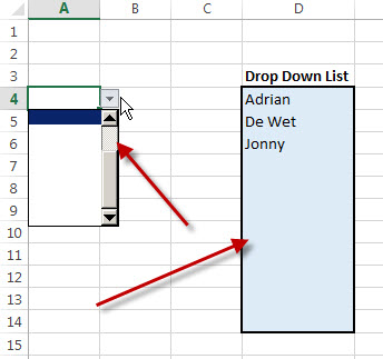 Drop-down-list-in-Excel-not-showing