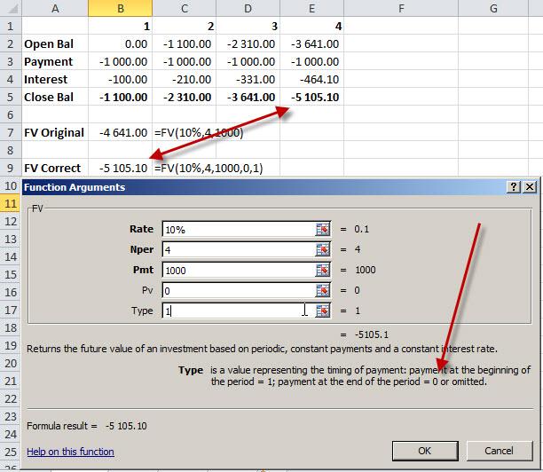 Excel-FV-formula