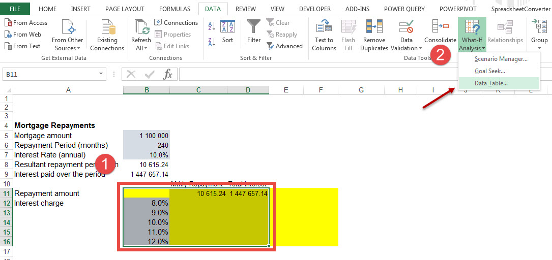 how to add variables to excel