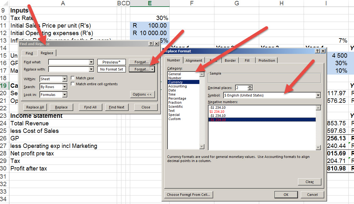 Changing-formats-in-Excel-in-one-go