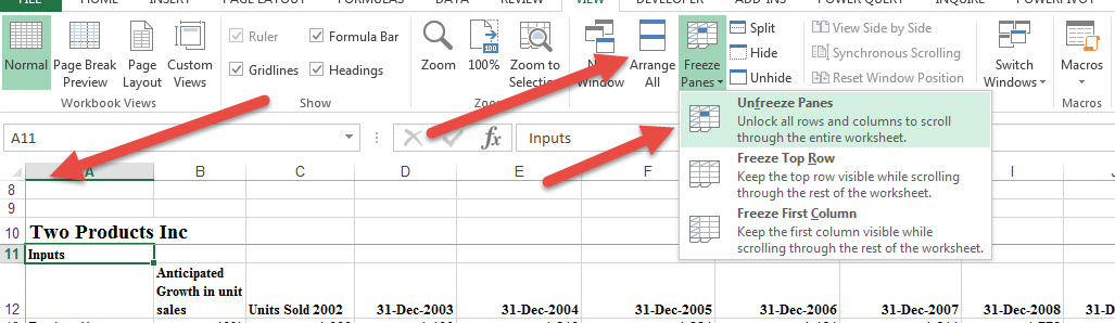 unhide-rows-not-working-in-Excel