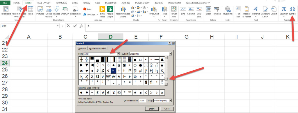 excel bullets in cell