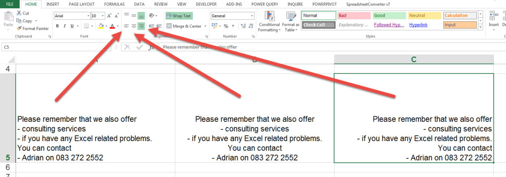 write-paragraphs-in-excel