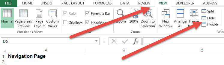 Excel spreadsheet open but not visible