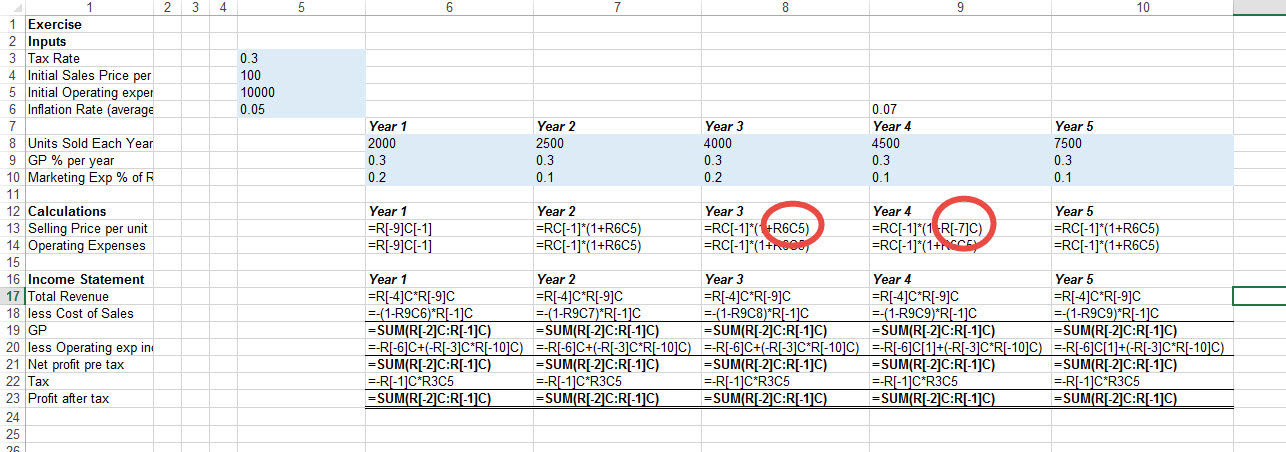How to find inconsistent formulas in excel