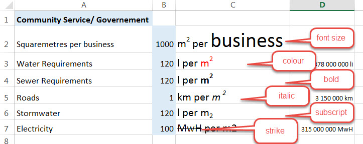how to put m2 in excel