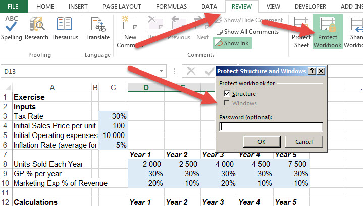 how to add different uncertainties on excel 2016