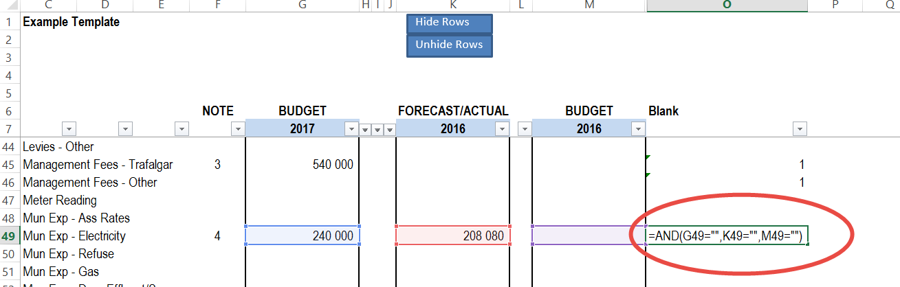 Check if the row is blank in Excel