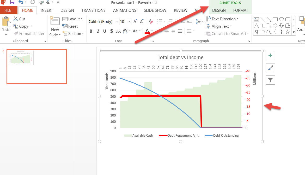 Copy Excel chart into PowerPoint or Word