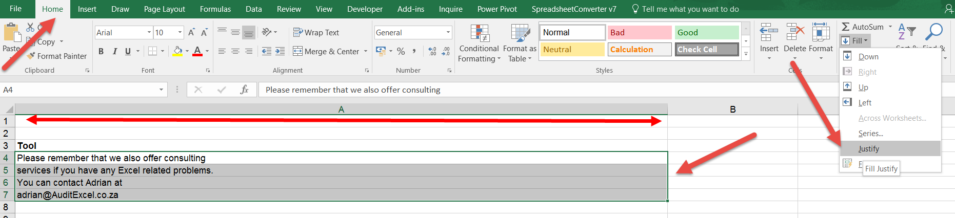 Combine Text In Excel Auditexcel