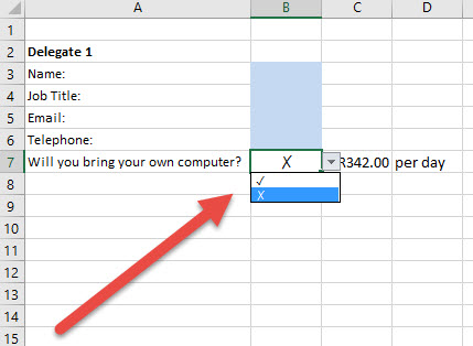 add tick cross into your data validation and use it in ifs and conditional formatting