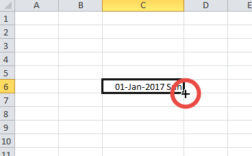 Fill a date series in Excel