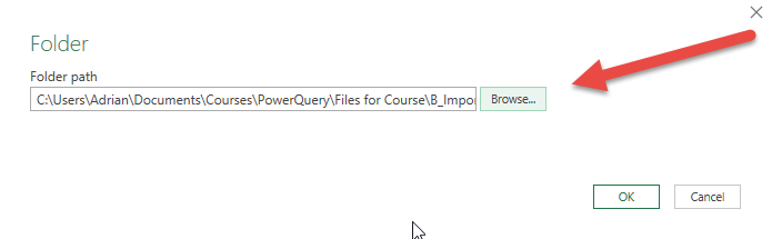 Import all files in a folder into Excel