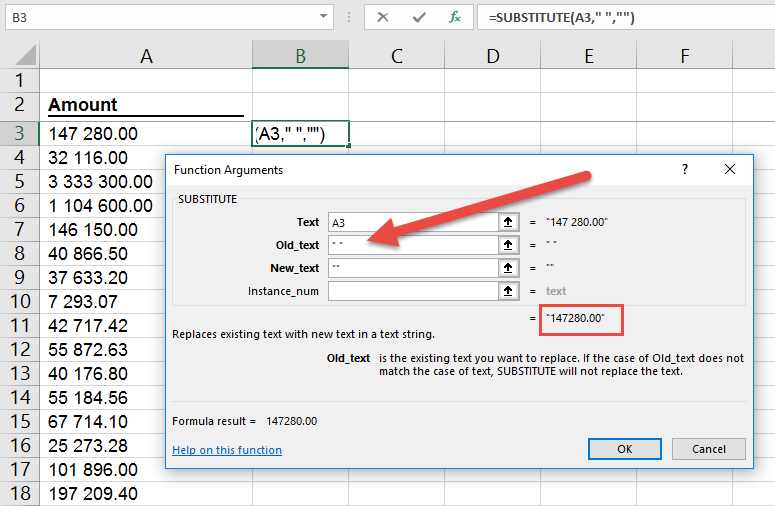 Remove spaces in Excel when trim doesn't work