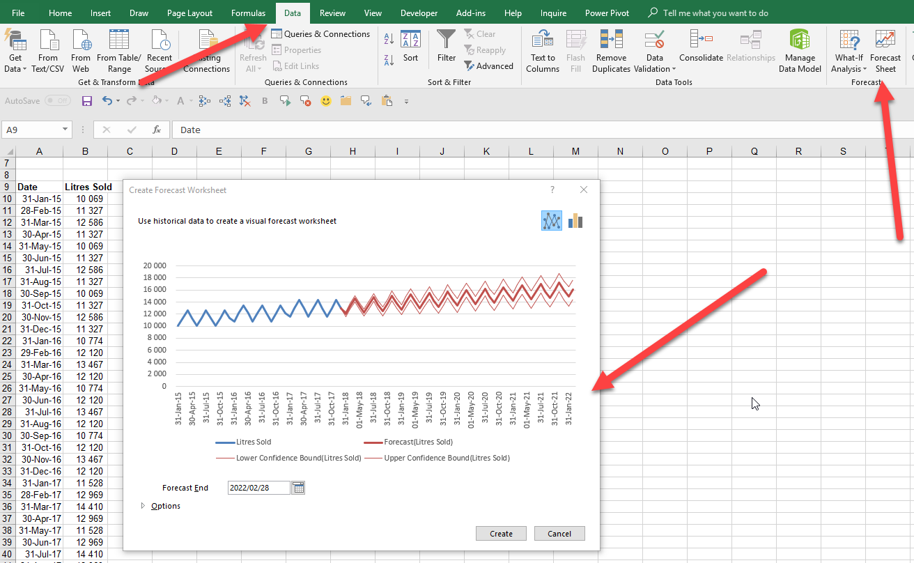 Forecasting Tool in Excel