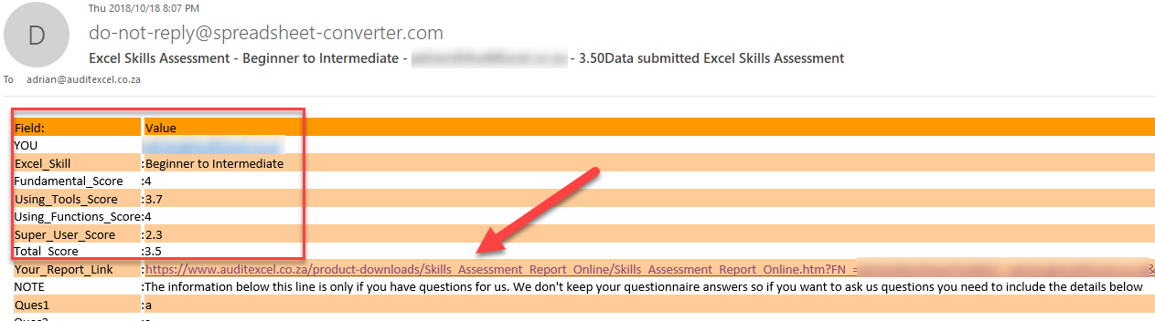 Excel Skills Assessment Report Instructions