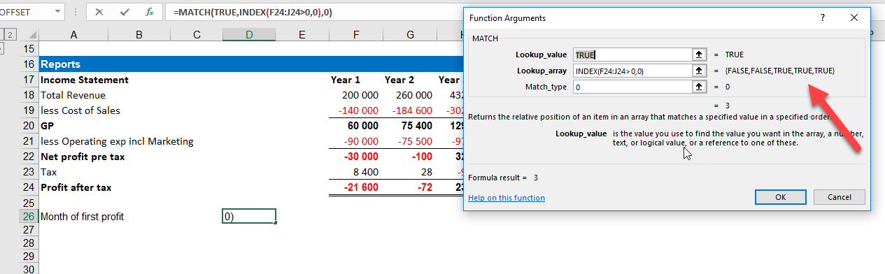 First Non Zero Value in MS Excel list