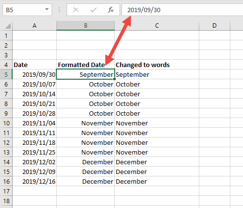 Convert the month number into the months name
