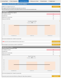Specific Excel Strengths and Weaknesses