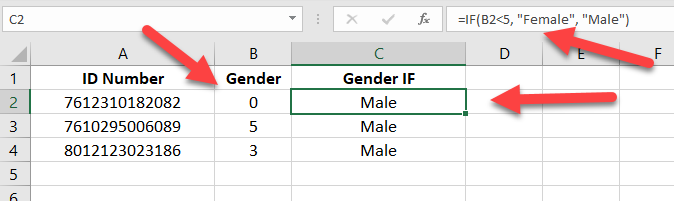 IF function not working with numbers