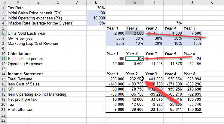 double click excel cell to follow formula