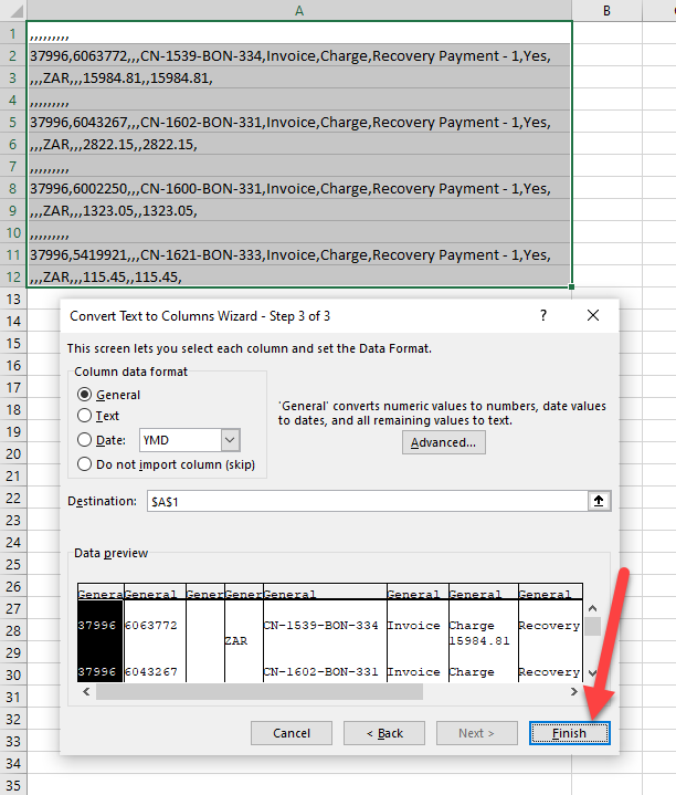 Excel CSV opens in one column