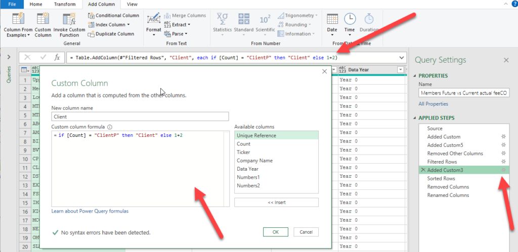 Switch off PowerQuery Conditional Column wizard