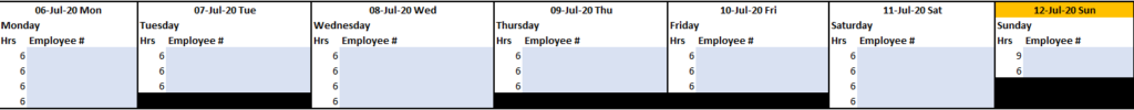 Corporate Excel timesheet template